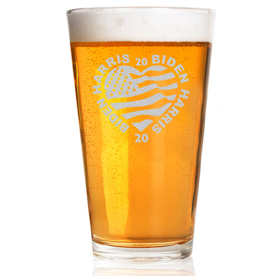 Biden Harris 2020 Heart - Pint Glass