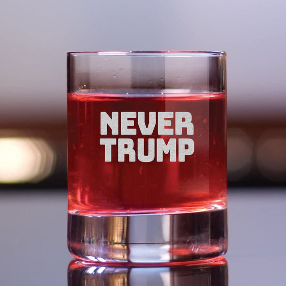 Never Trump - Bold - Whiskey Glass
