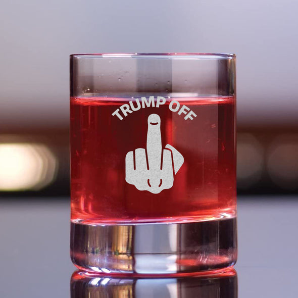 Trump Off - Whiskey Glass