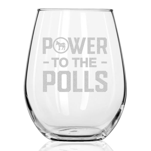 Power to the Polls - Wine Glass