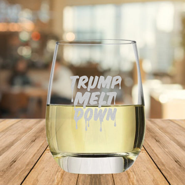Trump Meltdown - Wine Glass