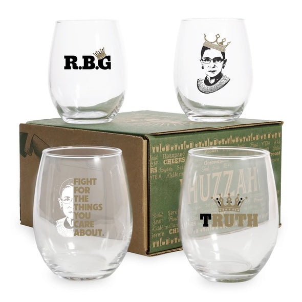 RBG Assorted Wine Glass in Color 4 Pack