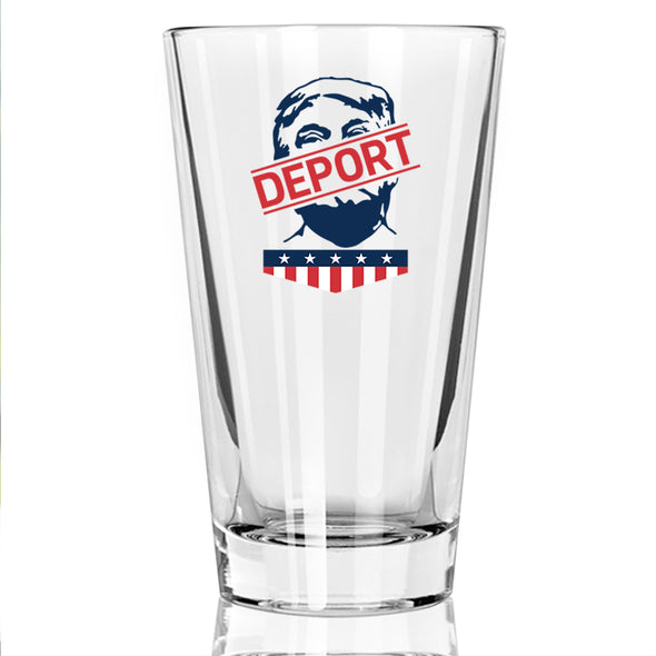 Deport Trump - Face - Pint Glass