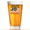 Love to Wake Up and Joe is President - Pint Glass