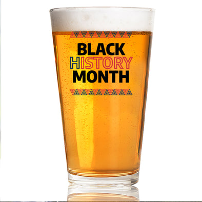 Black History Month Red Blue - Pint Glass