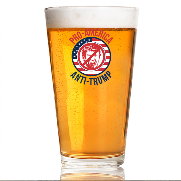 Pro America Anti Trump - Pint Glass