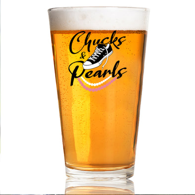 Chucks and Pearls - Pint Glass