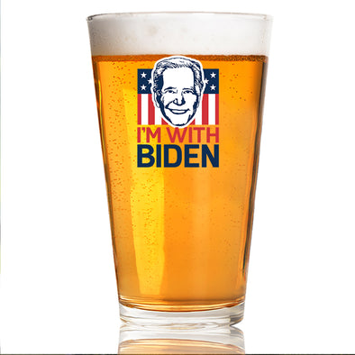 I'm with Biden Face - Pint Glass