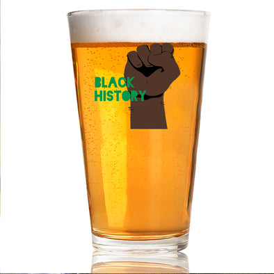 Black History Fist - Pint Glass