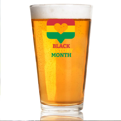 Black History Month Bubble - Pint Glass