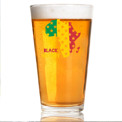 Black History Africa - Pint Glass