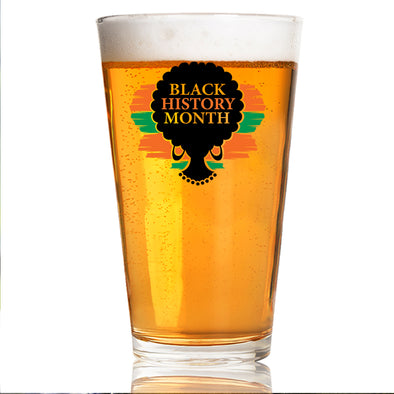Black History Month Silhouette - Pint Glass