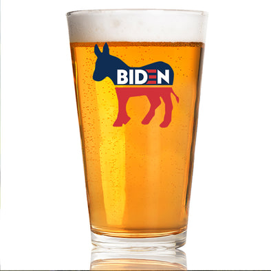 Biden Donkey Symbol - Pint Glass