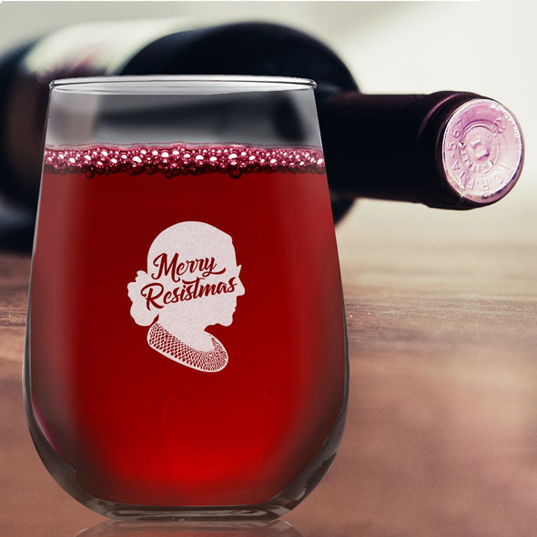RBG Merry Resistmas - Wine Glass