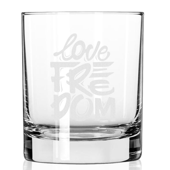Love Freedom - Whiskey Glass