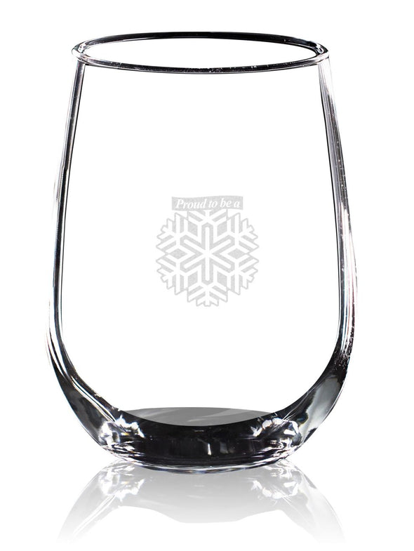 Proud to be a Snowflake - Wine Glass