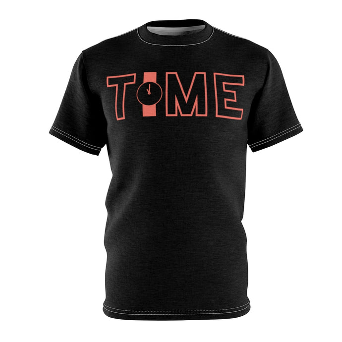 Time Black Unisex T-Shirt