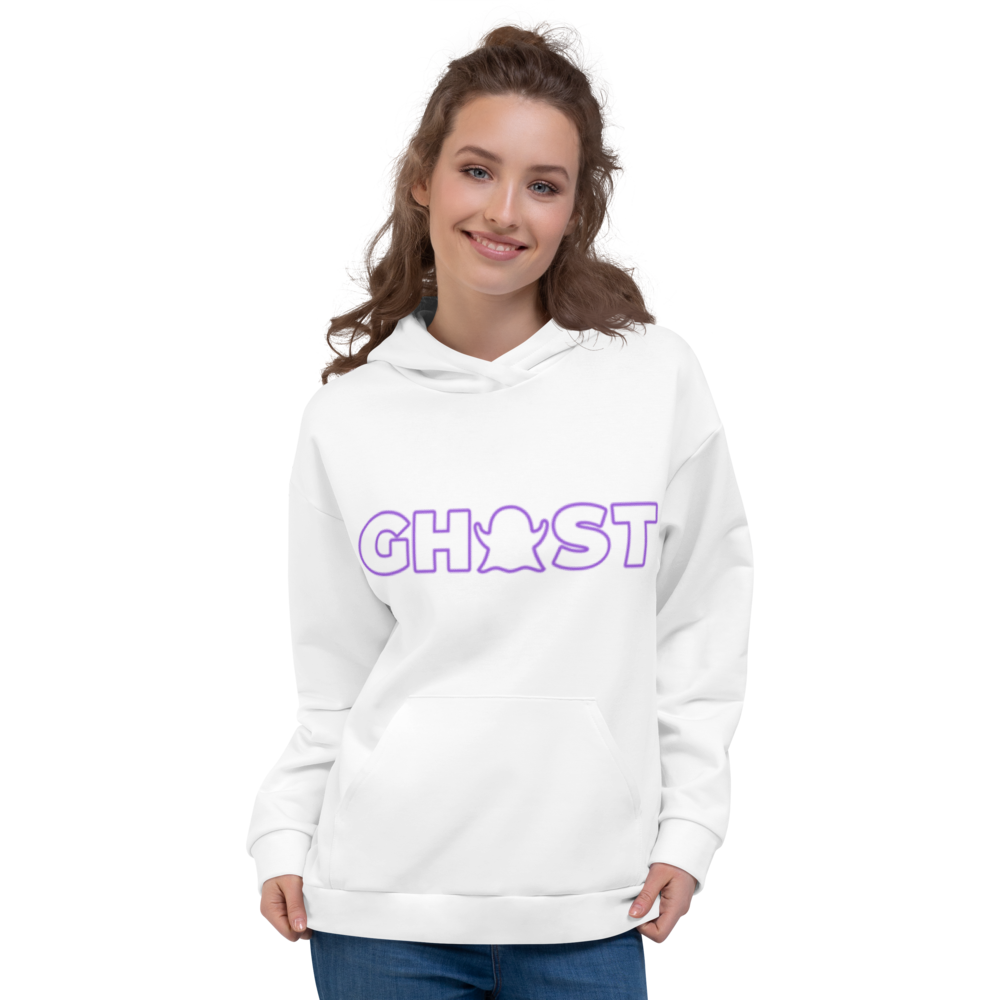 Ghost Wordmark Limited Edition Unisex Hoodie - White