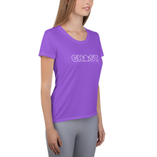 Load image into Gallery viewer, Ghost Wordmark Limited Edition Women's Athletic T-Shirt - Purple