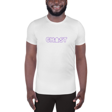 Load image into Gallery viewer, Ghost Wordmark Limited Edition Men's Athletic T-Shirt - White