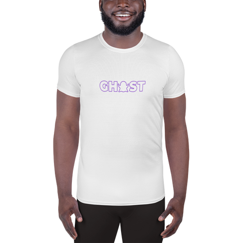 Ghost Wordmark Limited Edition Men's Athletic T-Shirt - White