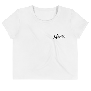 MANNIAC Essentials Women's Crop Tee - White
