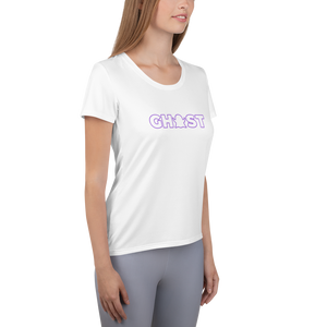 Ghost Wordmark Limited Edition Women's Athletic T-Shirt - White