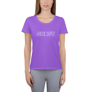 Ghost Wordmark Limited Edition Women's Athletic T-Shirt - Purple