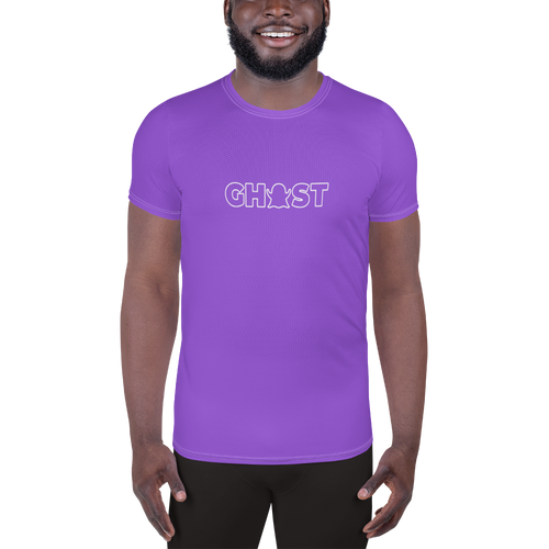 Ghost Wordmark Limited Edition Men's Athletic T-Shirt - Purple