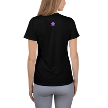 Load image into Gallery viewer, Ghost Wordmark Limited Edition Women's Athletic T-Shirt - Black