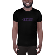 Load image into Gallery viewer, Ghost Wordmark Limited Edition Men's Athletic T-Shirt - Black