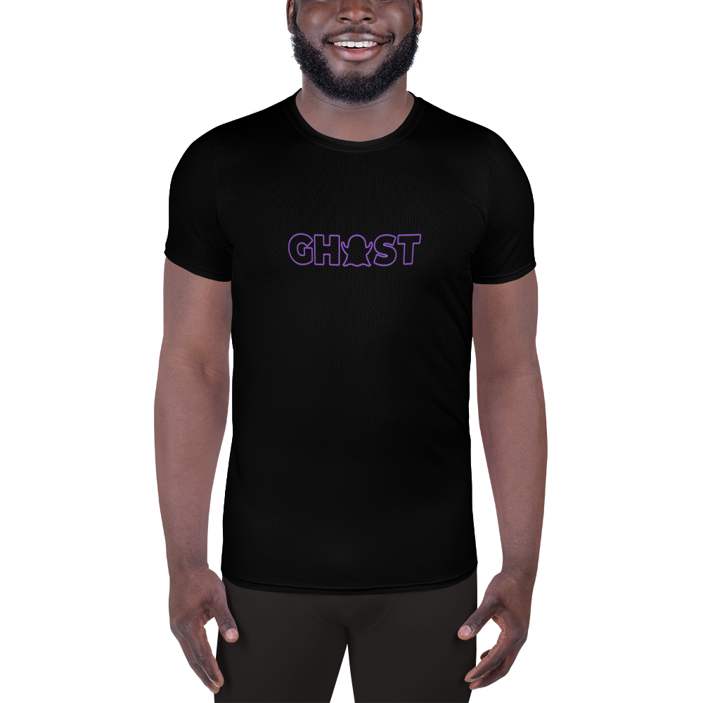 Ghost Wordmark Limited Edition Men's Athletic T-Shirt - Black