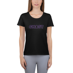 Ghost Wordmark Limited Edition Women's Athletic T-Shirt - Black