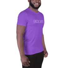 Load image into Gallery viewer, Ghost Wordmark Limited Edition Men's Athletic T-Shirt - Purple