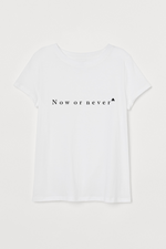 CAMISETA NOW OR NEVER