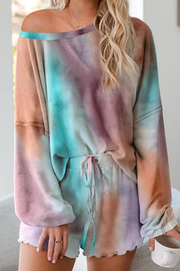Multicoloured Tie-dye Pyjama Set - Elsie & Evie