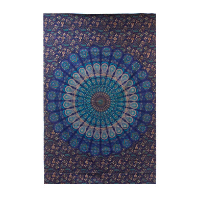 Single Cotton Bedspread/Wall Hanging - Classic Mandala - Elsie & Evie