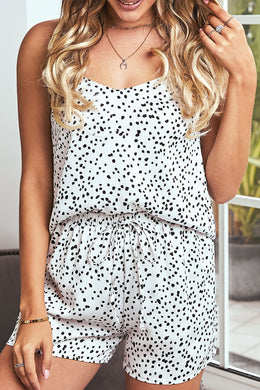 Dotted Satin Cami And Shorts Pyjamas Set - Elsie & Evie