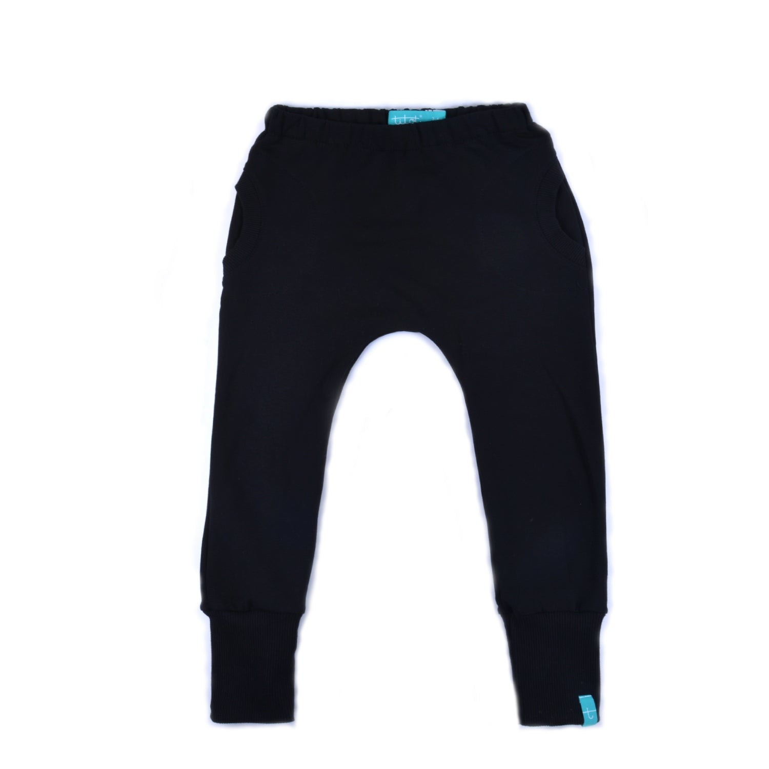 New Black Pants with round pockets