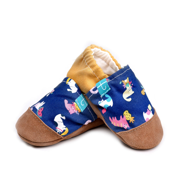 Gold Kittens Child Slippers