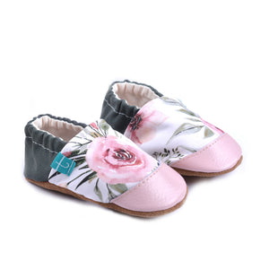 Peony Flowers Child Slippers