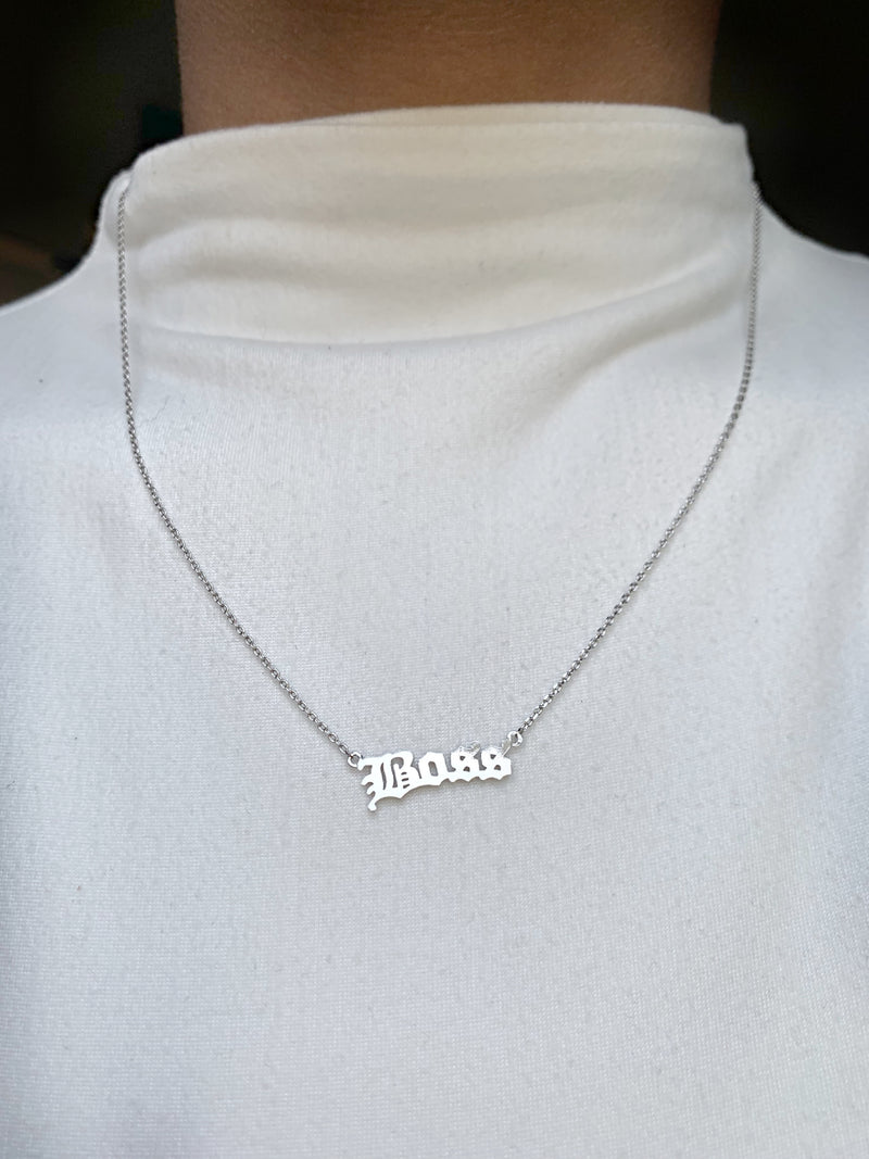 Boss Necklace-Silver