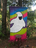 "Load image into Gallery viewer, ""Ghosty"" Out House Mural - Alyssa King Creative"