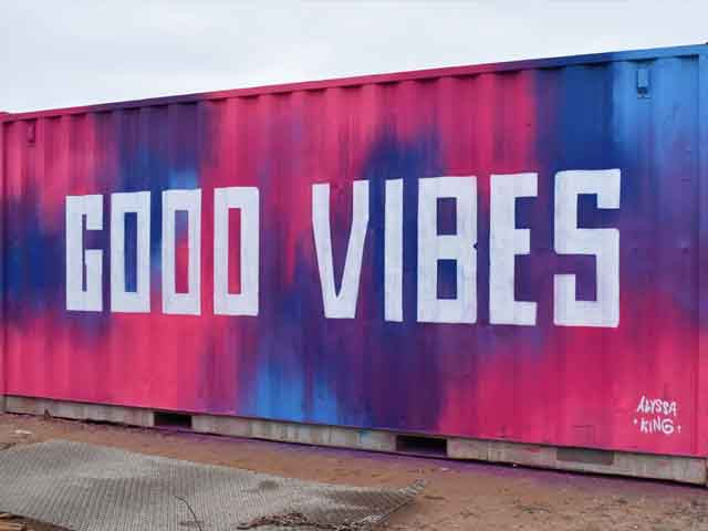 Good Vibes Mural - Alyssa King Creative