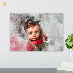 Baby Canvas with Watercolor effect
