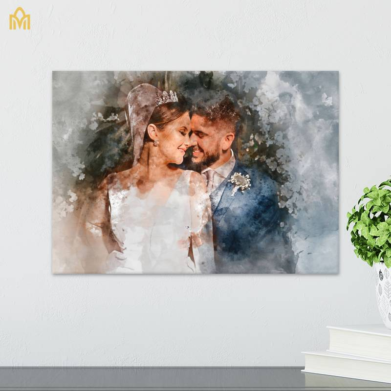 Couples & Wedding Canvas with Watercolor effect