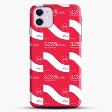 Load image into Gallery viewer, 325 Percent Milk Carton Print iPhone 11 Case, Black Snap 3D Case | JoeYellow.com
