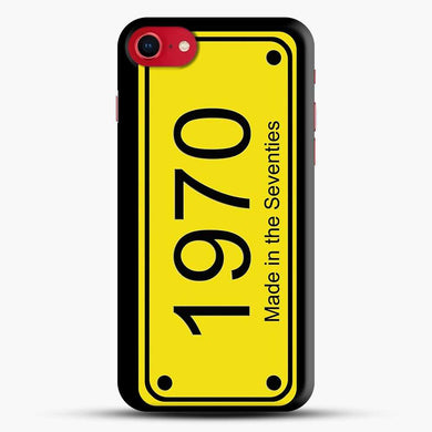70S License Plate Black Background Iphone 7 Case, Black Snap 3D Case | JoeYellow.com