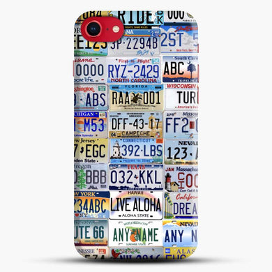 70S License Plate Colorful Iphone 7 Case, Black Snap 3D Case | JoeYellow.com