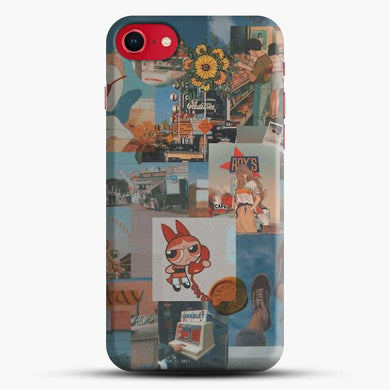 70S Vintage Vibe Collage Cartoon Aestethic Iphone 7 Case, Black Snap 3D Case | JoeYellow.com